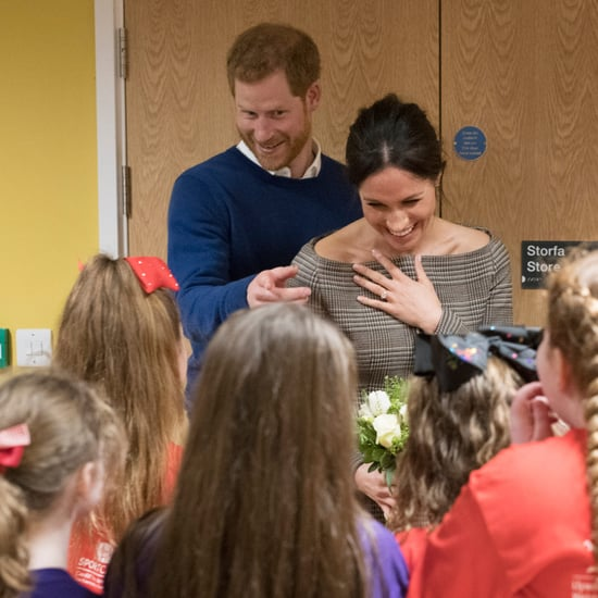 Prince Harry and Meghan Markle Playing With Kids in Cardiff