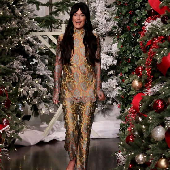Kacey Musgraves's By Far Glitter Heels on The Ellen Show