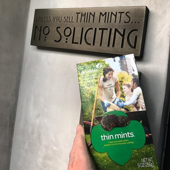 No Soliciting Unless You Have Thin Mints Sign