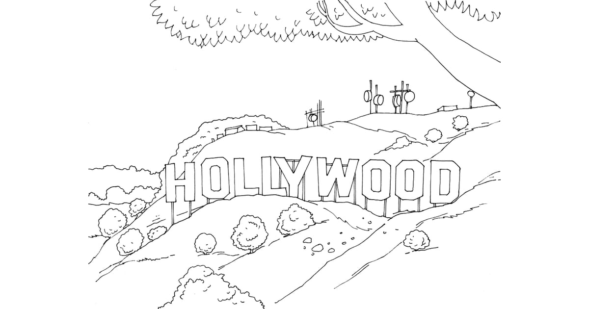 Get the coloring page Hollywood