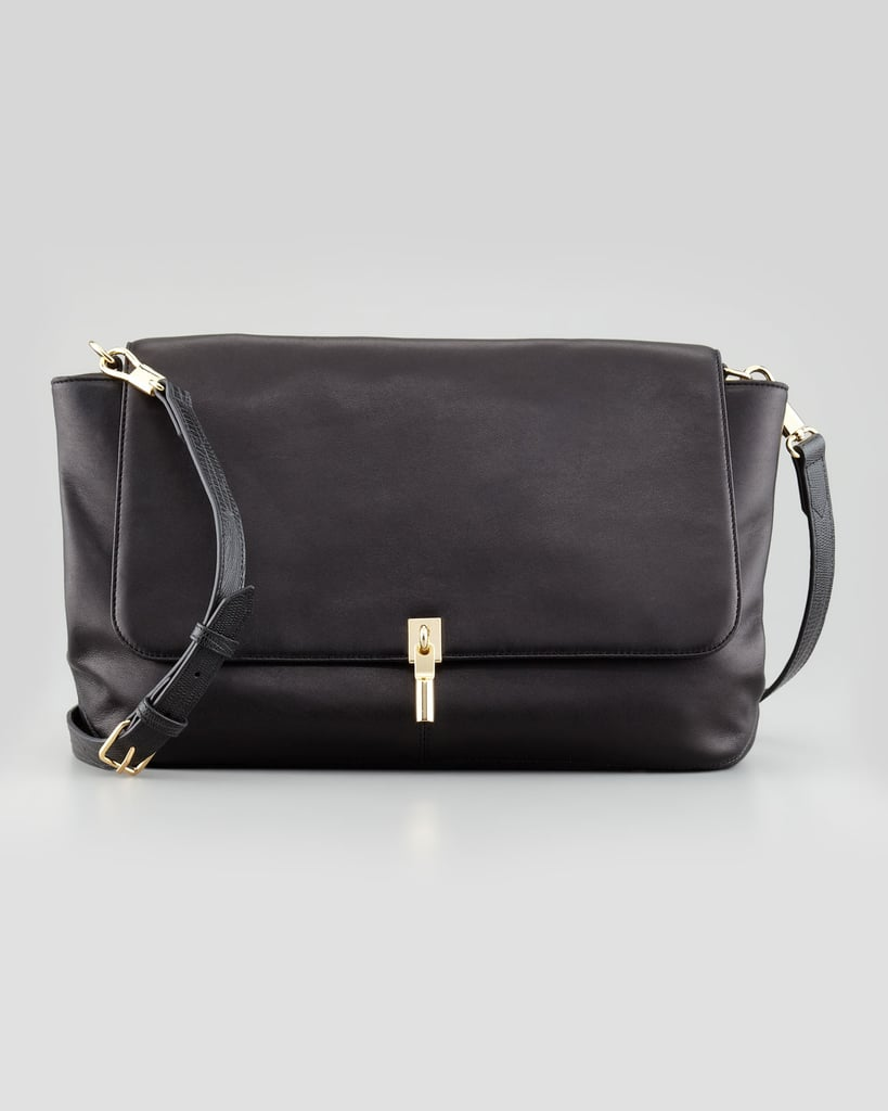 Those who prefer a medium-size style can count on this handy shoulder bag ($565) for day to day.