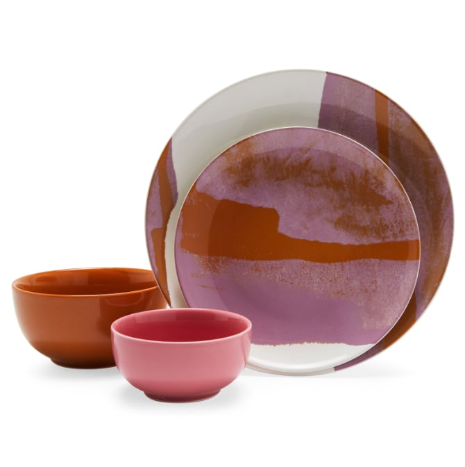 Vintage Marble Dinnerware Set