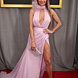 Jennifer Lopez at the 59th Grammy Awards