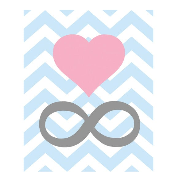 For A Nod To Your Forever Love Choose The Modern Chevron Infinity