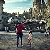The view walking into Star Wars: Galaxy's Edge.
