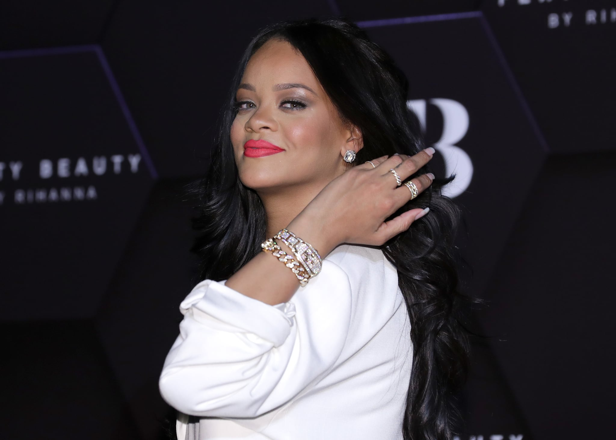 SEOUL, SOUTH KOREA - SEPTEMBER 17: ***South Korea Out*** Rihanna attends an event for 'FENTY BEAUTY' artistry beauty talk with Rihanna at Lotte World Tower on September 17, 2019 in Seoul, South Korea. (Photo by Han Myung-Gu/WireImage)