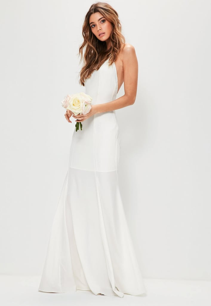 cbad667df6 Missguided Bridal Square-Neck Maxi Dress