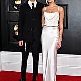Dua Lipa's White Vivienne Westwood Slip Skirt at the Grammys
