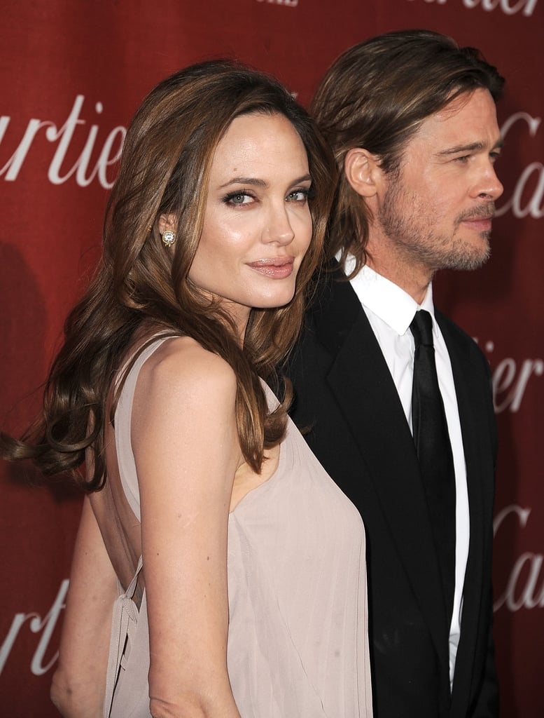 Angelina Jolie, Brad Pitt, and His Cane Hit the Palm Springs Film Festival