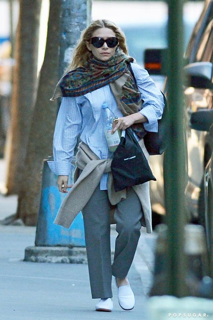Ashley Olsen's White Loafers