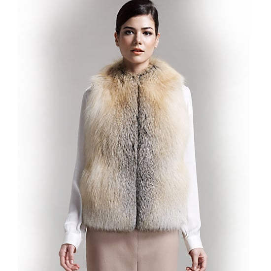 The Row Cashmere-Back Fox Vest, $5,250