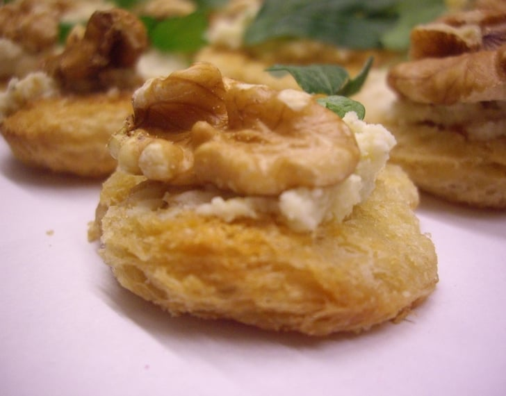 Roquefort and Walnut Canapés