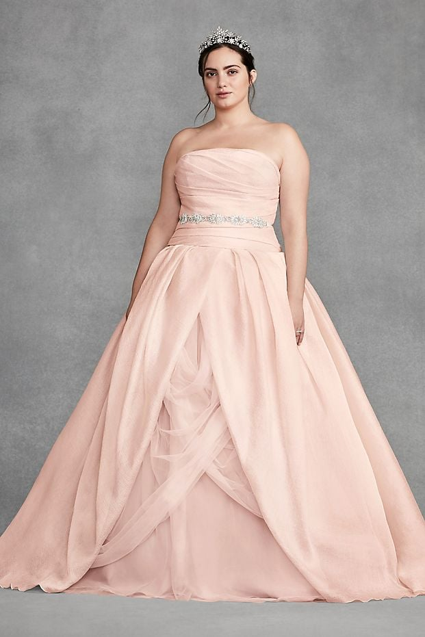 White by Vera Wang Organza Plus Size Wedding Dress | 15 Pink ...