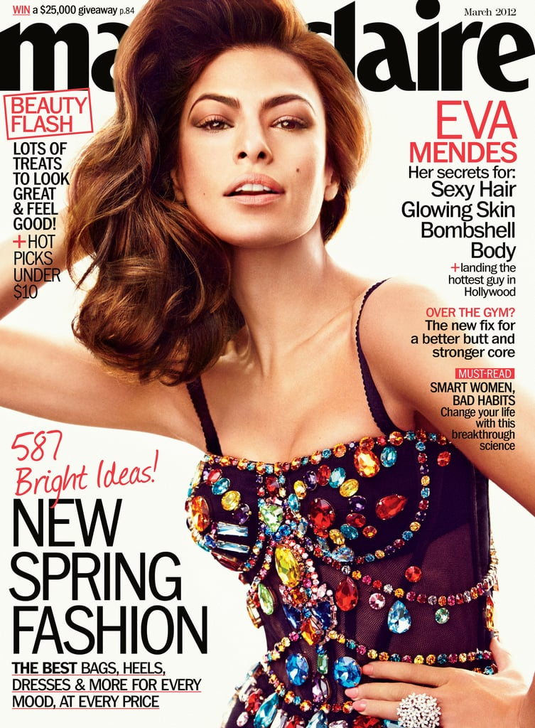 Eva Mendes on the cover of Marie Claire.