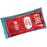 Taco Bell Fire Sauce Packet Velour Beach Towel