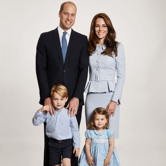 Kate Middleton Blue Suit Christmas Card 2017
