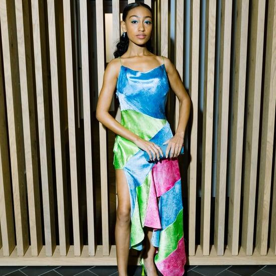 Lexi Underwood Channels y2k in a Bold Theophilio Slip Dress