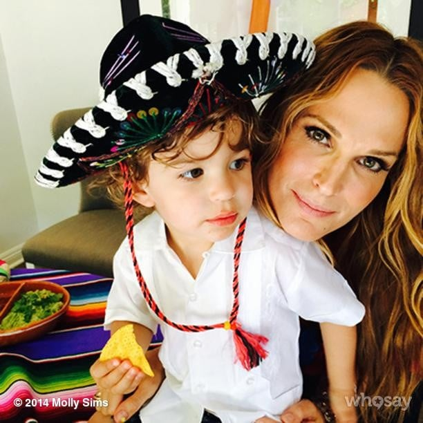 Brooks Stuber and Molly Sims had their own Cinco de Mayo celebration. Source: Instagram user mollybsims