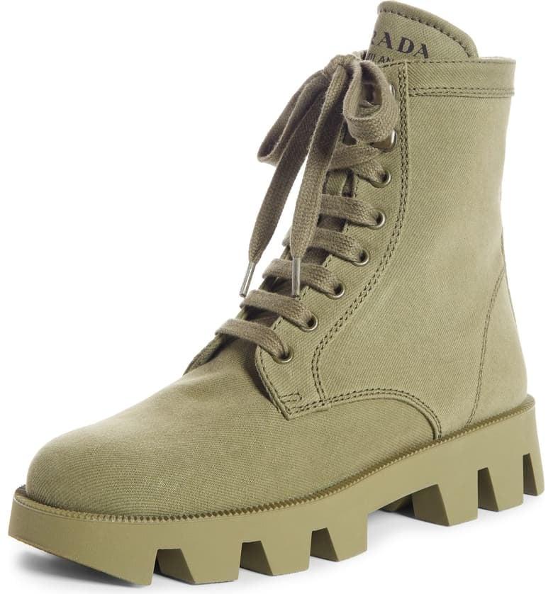 Prada Lugged Combat Boot