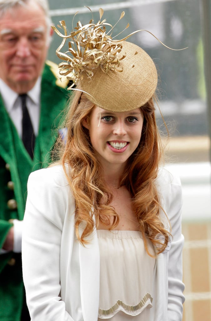 High shine, gold, and drama — Princess Beatrice exhibited all three things (in one gorgeous hat) at day five of Royal Ascot in 2010.