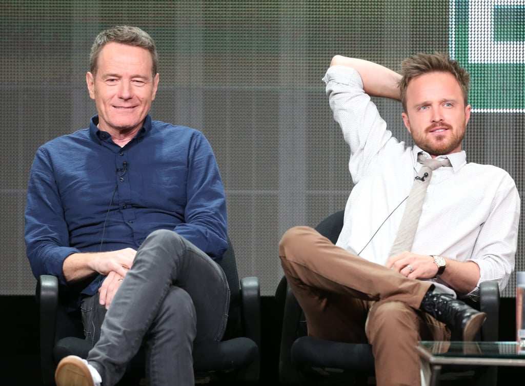 Aaron Paul and Bryan Cranston took the stage to talk about Breaking Bad.