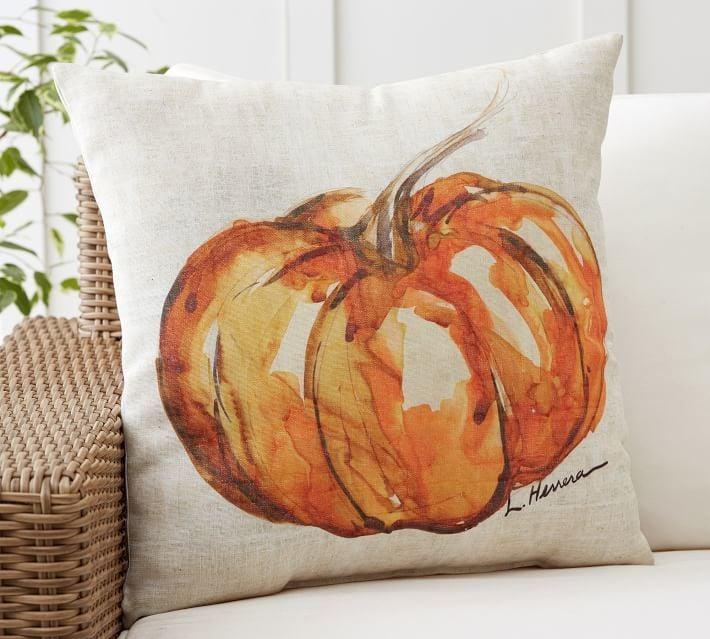 Pottery Barn Painted Pumpkin Patch Pillow
