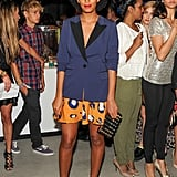 Solange Knowles was also there, wearing a pair of shorts and a blazer from the collaboration.