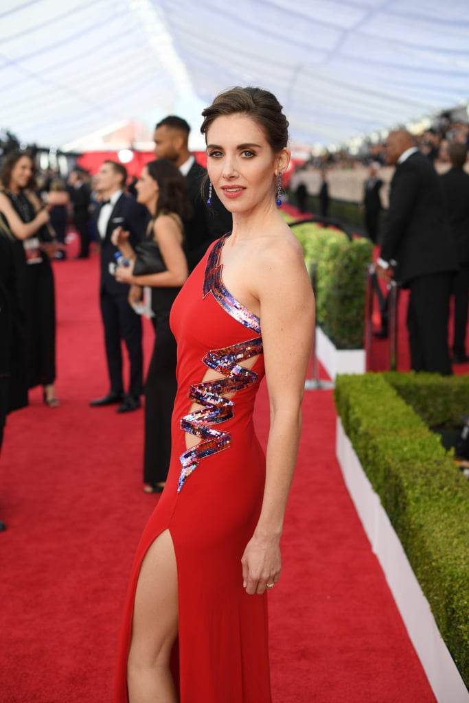 Alison Brie's Red Dress at the SAG Awards 2018