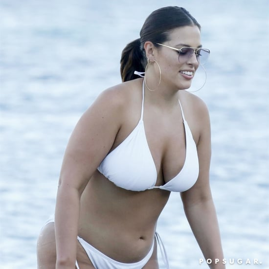 Ashley Graham's White Bikini With Crochet Cover-Up