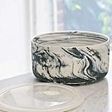 Marbled Ceramic Large Food Storage Bowl