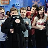 The cast of The Lord of the Rings visited TRL in 2001.