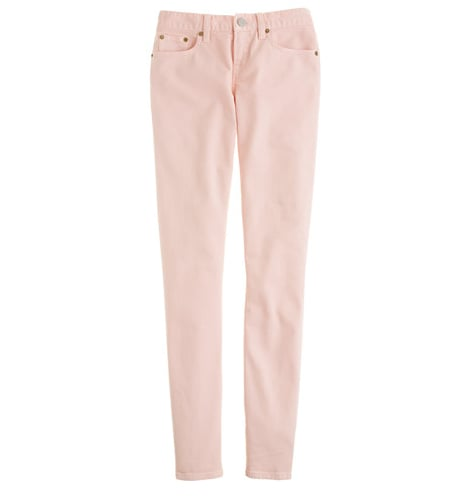 We love the idea of wearing these J.Crew Garment-Dyed Twill Toothpick Jeans ($24, originally $125) with a wintry off-white coat and boots right now and with sandals and a simple tank come sunshine.