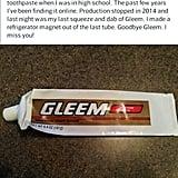 It's been a good run, Gleem.