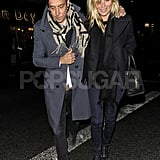 Jamie Hince and Kate Moss had an affectionate outing in London.