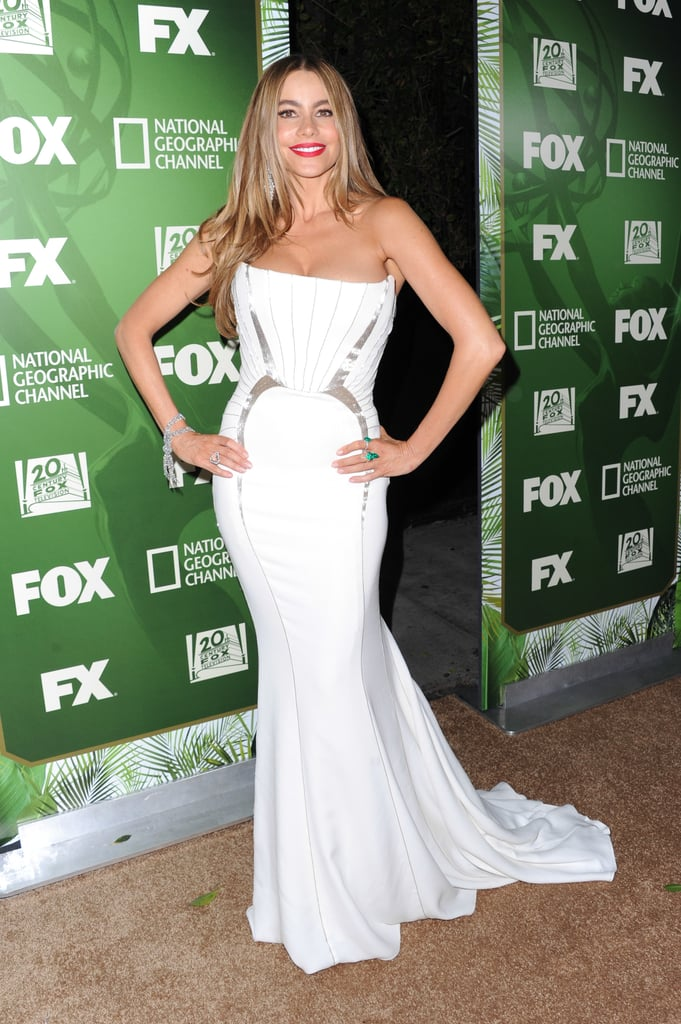Sofia Vergara attended the Fox/FX party after the Emmys.