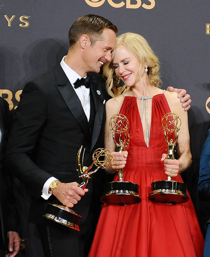 Alexander Skarsgard and Nicole Kidman at the 2017 Emmy Awards
