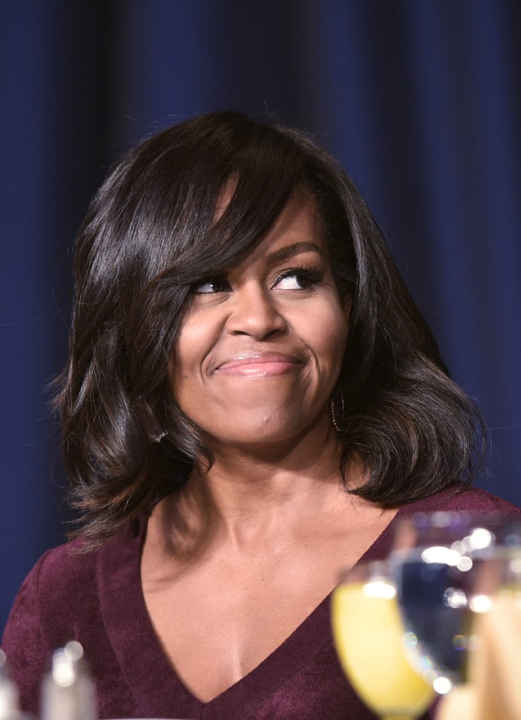 Michelle Obama Wears a Wine-Colored Skater Dress We Can See on Taylor Swift