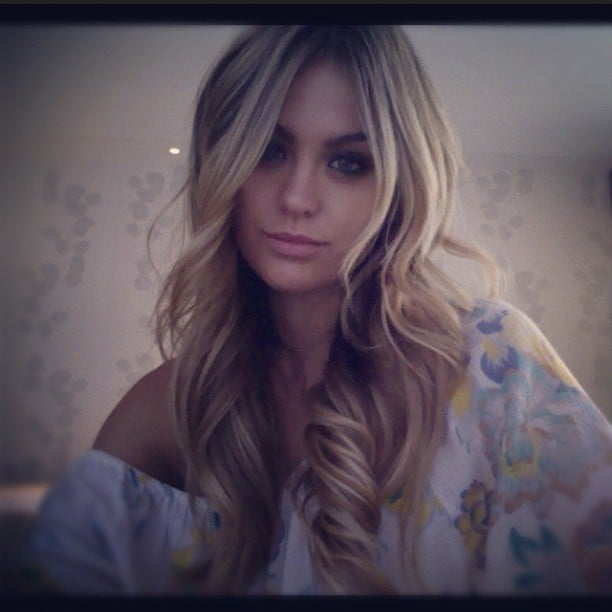 Jesinta Campbell showed off the results of a hair and makeup session. Source: Instagram user jesinta_campbell