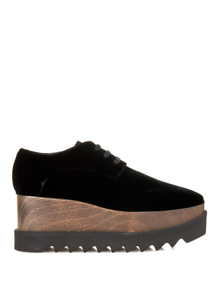 Stella McCartney Elyse lace-up platform shoes ($889)
