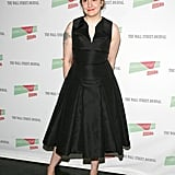 She wore a nipped-waist black tea-length dress to the Nobody Walks premiere in June.