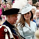 Kate looked kindly on Prince Charles as they shared a 2014 carriage ride.