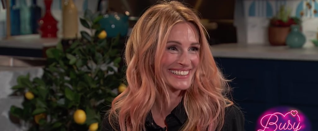 Julia Roberts Talks Armpit Hair on Busy Tonight