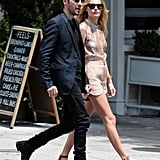 Kate Bosworth and Michael Polish were dressed up for a walk around NYC.