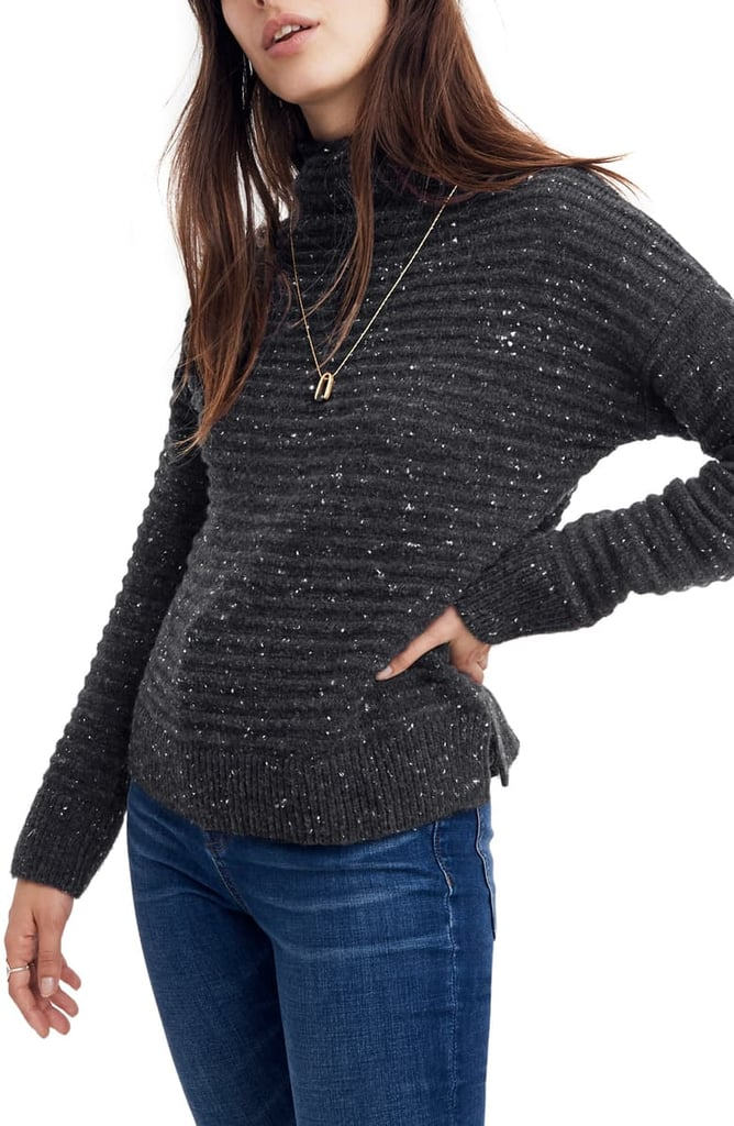 Madewell Belmont Donegal Mock Neck Sweater