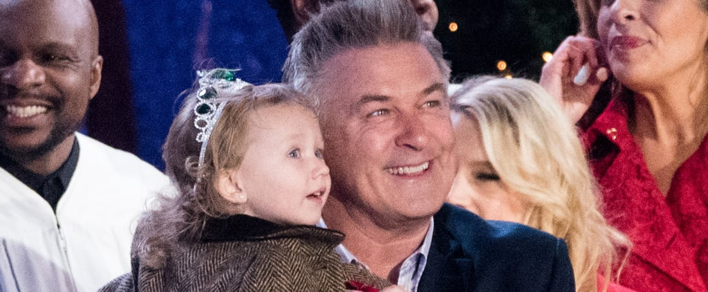 Alec Baldwin's 3-Year-Old Daughter Steals the Spotlight From the Rockefeller Christmas Tree