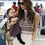 Victoria Beckham and Harper Beckham left LA together.