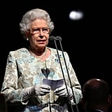 Queen Elizabeth II opens the Paralympic Games in London in 2012.