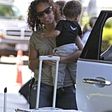 Alicia Keys kept baby Egypt close by her side.