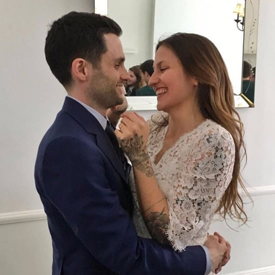 Domino Kirke's Lace Wedding Dress Feb. 2017