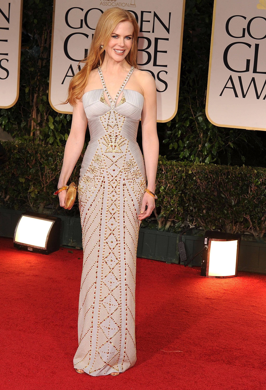 Nicole Kidman in Versace at the Golden Globes